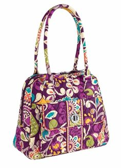 8fdc5c1a4899 Vera Bradley Turn Lock Satchel Bag Purse NWT  Authentic and A Retired  Pattern  in