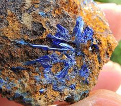 12.41g LINARITE CRYSTALS SPECIMEN FROM KING ARTHUR MINE THRACE GREECE NR20