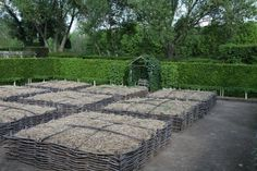 Wattle raised beds. MUST SEE THIS LINK. Gorgeous trellises, wattle structure...