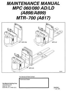 Yale electric forklift truck erp030tfn erp035tfn erp040tfn yale truck mpc060ad mpc060ld mpc080ad mpc080ld mtr 700 workshop service manual circuit diagramhigh asfbconference2016 Gallery