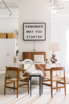 Lightbox in office - Remember Why You Started /