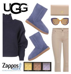 """The Icon Perfected: UGG Classic II Contest Entry"" by cielogy ❤ liked on Polyvore featuring Balenciaga, UGG Australia, 7 For All Mankind, Marni, Prada, Too Faced Cosmetics, ugg and contestentry"