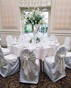 White wedding reception at the Glen Club