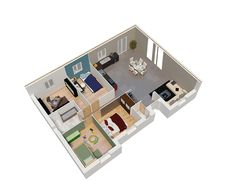 Plan plein pied | hairstyle | Pinterest | House, Ideal house and ...