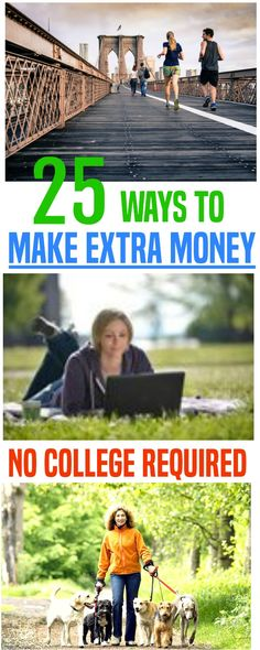 Making extra money can enable you to stop getting by and start getting ahead. These 25 side hustles are easy to start and dependable income. Make extra money | earn extra money | making extra money.