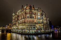 Hotel L'europa Amsterdam - Pinned by Mak Khalaf City and Architecture AmsterdamCityHotelNightNikonPhotography by smokingmb Creative Pictures, City Architecture, Daily Inspiration, Amsterdam, Photography, Travelling, December, News, Fotografie