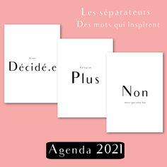 Agenda 2021 français pour recharge de planner, agenda rechargeable 2021, Shirley Chiche