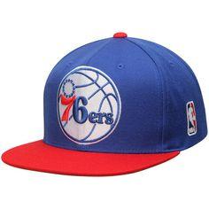 0369d87db34 Mitchell   Ness Philadelphia 76ers Royal XL Current Logo 2 Tone Snapback  Adjustable Hat