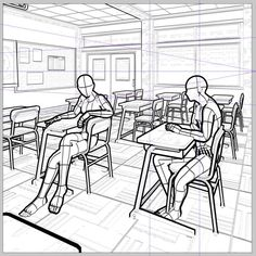 Perspective Drawing Lessons, Perspective Art, Storyboard Drawing, Comic Drawing, Hand Drawing Reference, Drawing Reference Poses, Comic Layout, Human Figure Drawing, Background Drawing