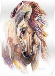 Colored Horse Poster
