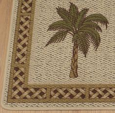 palm kitchen decor | for sale are brand new palm tree accent rugs this charming rug is ...