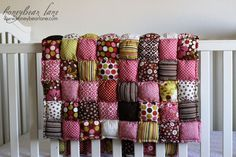 #Sew a rag puff #quilt #baby