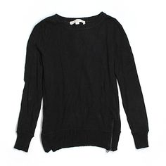 Pre-owned Ann Taylor LOFT Pullover Sweater ($16) ❤ liked on Polyvore featuring tops, sweaters, black, pullover tops, black top, black pullover sweater, loft tops and sweater pullover