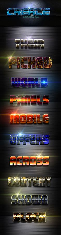 Create vol 23 — Photoshop ASL #effects #3d text • Available here → https://graphicriver.net/item/create-vol-23/19922928?ref=pxcr
