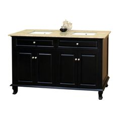 Bellaterra Home Anoia 62-in. Double Bathroom Vanity with Optional Backsplash - BTH199