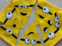 Funny minions themed Felt party Banner by BellisimaSofia on Etsy, $28.00