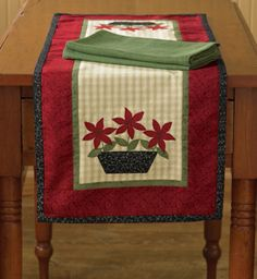 Poinsettia Table Runner by Park Designs. For a Park Designs retailer near you visit our website at www.parkdesigns.net #christmas #holidays