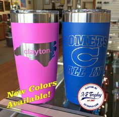 Two new colors available on our popular tumblers!  More to come soon!