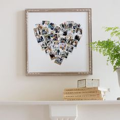 Turn her favorite Instagrams into wall art! Heart print available at Minted.