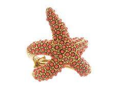 Kenneth Jay Lane starfish ring, $180.