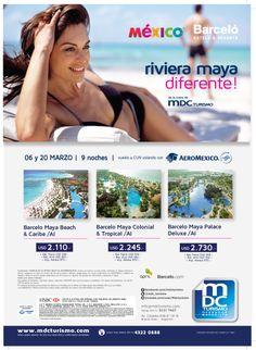 publicidad gráfica para MDC Turismo y Barceló