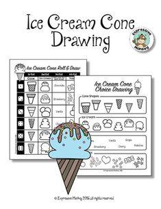 Drawing Sweet Treats by Expressive Monkey-The Art Teacher's Little Helper Drawing Games For Kids, Drawing Activities, Learning Activities, Art For Kids, Ice Cream Cone Drawing, Monkey Drawing, Drawing Drawing, Cupcake Drawing, Directed Drawing