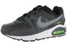 Nike air max; MEN\u0027S NIKE AIR MAX COMMAND LEATHER BLACK GREY WITH NEON GREEN  BUTTONS HOT SALE! HOT