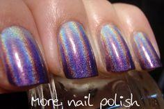 Purple Holo Gradient: China Glaze OMG>IDK>LOL. Sponging. Looks great! <3