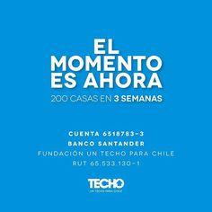 EL MOMENTO ES AHORA! Haz tu donación para ayudar a las familias que lo han perdido todo por los incendios forestales! Hoy parten #voluntarios a Hualañé y Paredones pero necesitamos recaudar más para cumplir esta meta. #Chilenosnecesita. Los #incendiosforestalesdebenparar Razón social: Un Techo para Chile RUT: 65.533.130-1 Cuenta corriente Banco Santander Nº cuenta: 6518783-3 Mail: emergencia.chile@techo.org  via ONE BOOK MAGAZINE OFFICIAL INSTAGRAM - Celebrity  Fashion  Haute Couture…