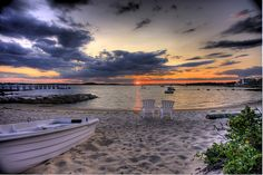 Cape Cod Sunset    A couple of minutes before sun down. 3 exposure (-2, 0, +2) HDR. Phinney's Harbor Cape Cod MA.