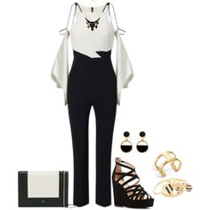 A fashion look from March 2017 featuring Roland Mouret jumpsuits, Charlotte Russe sandals and CÉLINE clutches. Browse and shop related looks.