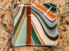 Fused Glass Southwest Dish - by Derryrush Designs. Delphi Artist Gallery