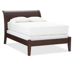 Valencia Sleigh Bed & Dresser Set #potterybarn Have a larger footboard at the bottom
