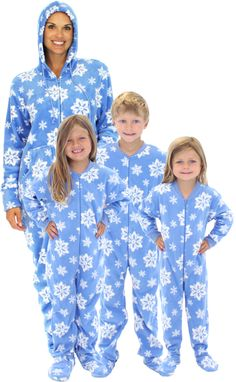 SleepytimePjs Blue Snowflake Family Matching Fleece One Piece Footed Pajamas ad Matching Pjs, Matching Family Pajamas, Pajama Party, Pajama Set, Christmas Trends, Christmas Outfits, Family Christmas, Christmas Onesie, Holiday Traditions
