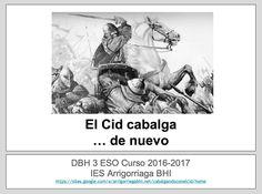 Un curso más, el Cid cabalga de nuevo por las aulas de 3ºESO; retomamos el proyecto Cabalgando con el Cid del año pasado mediante cómics