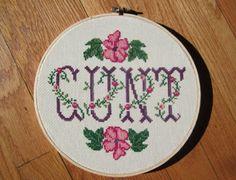 cunt cross stitch