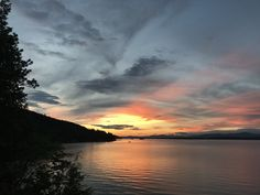 Twilight at Lake Winnipesaukee. Photo taken from the docks of 101 Andreson Drive Alton, NH