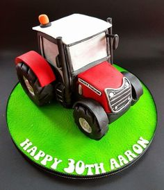 Massey Ferguson Tractor Cake - Cake by Cakes Glorious Cakes