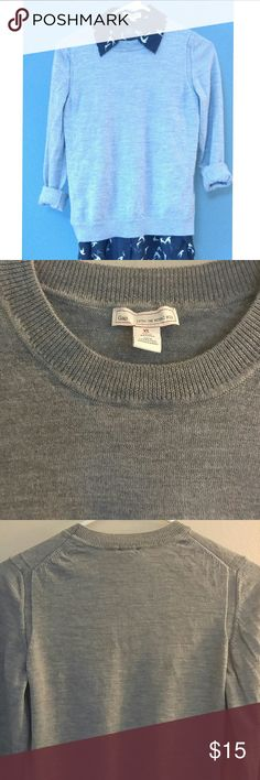 Gap merino wool sweater Worn twice this sweater says XL but fits like a medium and is very soft stretchy and very well made. GAP Sweaters Crew & Scoop Necks
