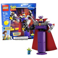 """Lego Year 2010 Special Edition Disney Pixar Movie """"Toy Story"""" Series Set #7591 - Construct-a-Zurg with Rotating Waist and Sphere-Shooting Cannon and Alien Minifigure (Total Pieces: 118)"""