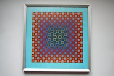 Victor Vasarely ALOM print from In a by DecadesOfFunkiness Victor Vasarely, Vintage Prints, Stains, This Or That Questions, Create, Paper, Etsy, Dark Spots