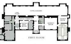 Sudbury Hall interiors floor plan