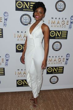 On the Scene: The 47th NAACP Image Awards Nominees' Luncheon with Laverne Cox in Roland Mouret, Teyonah Parris in John Paul Ataker, Naturi Naughton in Vintage, and More!