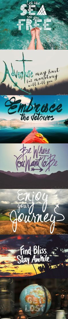 Pretty lovely travel quotes and graphics.