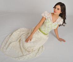 """ANGIVANI COUTURE, Munich - einzigartiges Brautkleid namens """"Harriet """", 2015. #farbigeBrautkleider #türkis #brautkleidMünchen https://www.marryjim.com/de/AngiVani%20Couture%20/Designer-Brautkleider/id821"""