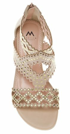 Summer Style : Tan leather slingback sandals bejeweled with rhinestones along the front and an . Crazy Shoes, Me Too Shoes, Designer Handbags On Sale, Shoe Closet, Shoe Boots, Just For You, Footwear, Sunglasses, My Style