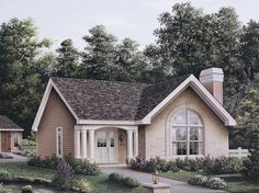 Foxport Cabin & Lodge House Plan - #ALP-09G1 - Chatham Design Group House Plans