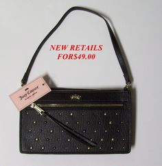 HURRY ends in 3 hours! JUICY COUTURE AUDRINA BLACK STUD WRISTLET/PURSE NEW $10 bid