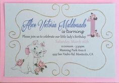 Marie the Cat Birthday Invitations!