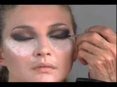 "MUA Martin Pretorius creating his famous & very iconic Robert Palmer Girl look as seen in the wildly popular music videos ""Addicted to Love"" and ""Simply Irresistible"" ♥"